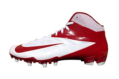 Nike Mens Alfa Pro Två Fotboll Cleat Mörkröd / Vit