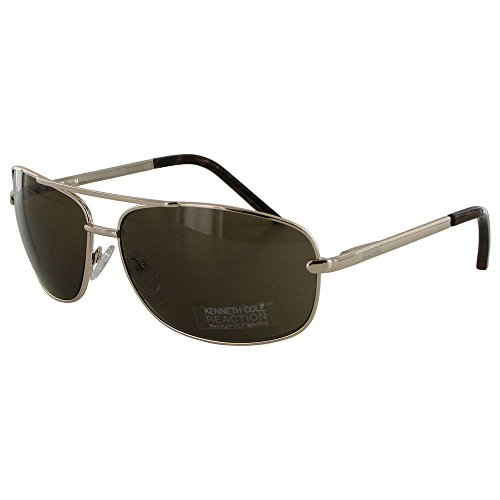 kenneth-cole-reaction-kcr1076-0772-mens-aviator-rose-tone-sunglasses