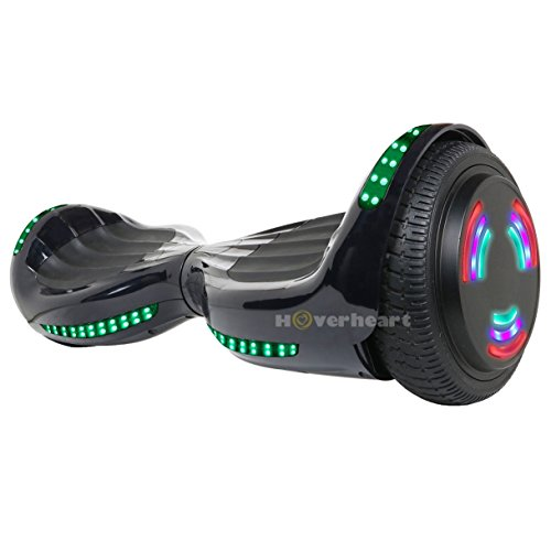 Hoverboard UL 2272 Certified Flash Wheel 6.5'' Bluetooth Speaker with LED Light Self Balancing Wheel Electric Scooter (Black) by Hoverheart