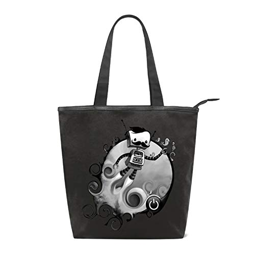 Shopping Bag Rocket Man Grocery Canvas Tote Bags