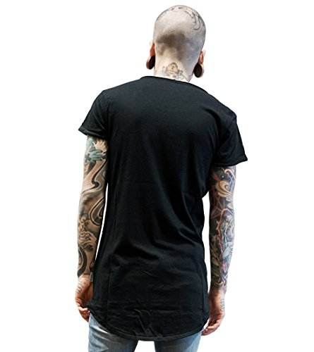 Boom Bap Sign Long Back Herren T-Shirt schwarz Longshirt T Shirt Longline Longfit Hipster black