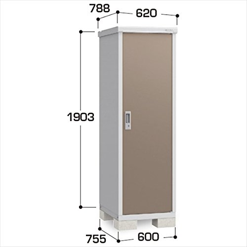 『配送は関東東海限定』イナバ物置 BJX/アイビーストッカー BJX-067E 全面棚タイプ 『屋外用ドア型収納庫 DIY向け 小型 物置』 TB(ティンバーブラウン) B00TZCV4FE