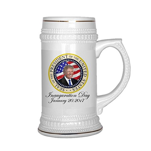 Limited Edition Donald Trump Official Seal of the United States Beer Stein 22oz 45th Presidential Inauguration Collectors Republican GOP MUG Gold Trim