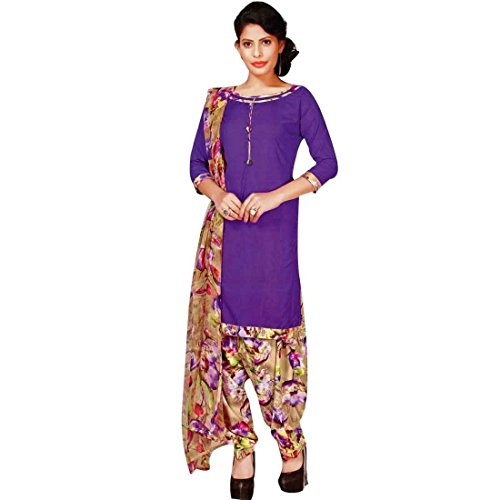 Faux Crepe Salwar Kameez - Ladyline Ready to wear French Crepe Printed Salwar Kameez Suit Indian Pakistani dress