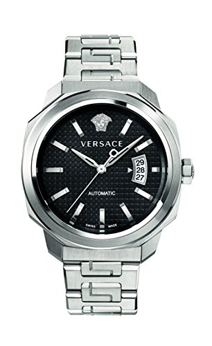 Versace Men's 'Dylos' Automatic Stainless Steel Casual Watch, Color:Silver-Toned (Model: VAG020016)