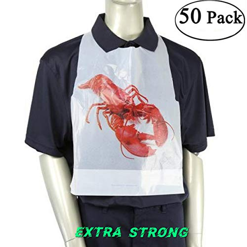 Adult Size Disposable Bibs,Lobster Bibs, 20