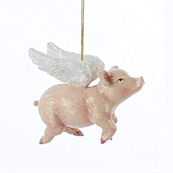 Amazon.com: Kurt Adler Flying Pig Christmas Ornament: Home & Kitchen