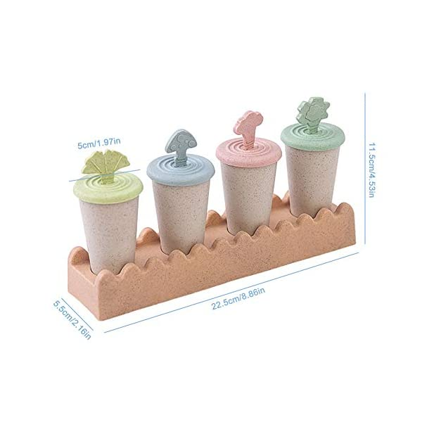 Maojie - Stampo per gelato fai da te, con 4 scomparti, con vassoio 2 spesavip