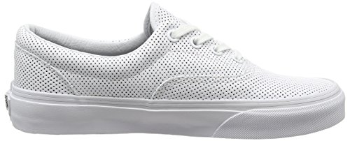 Vans U Era 59 - Zapatillas de tela unisex White (Perf Leather - True White)