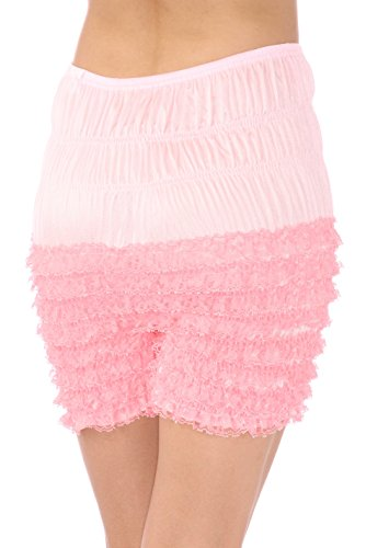 - Malco Modes Womens Ruffle Panties Bloomers Dance Bloomers for Lolita Victorian (Light Pink, Small)