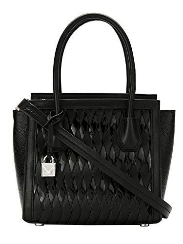 Michael Michael Kors Mercer Studio Patent Leather Medium Woven Messenger Handbag in ()