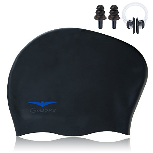 Gowave Extra Large Swim Cap For Long Hair,Thick Hair,Curly Hair&Short Hair,Swimming Caps For Women And Men With Ear Plug And Nose Clip by – DiZiSports Store