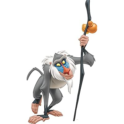12 Inch Rafiki Baboon Monkey Lion King Movie Animal Removable Peel Self Stick Adhesive Vinyl Decorative Wall Decal Sticker Art Kids Room Home Decor Girl Boy Children Bedroom 6 1/2 x 12 inch Tall: Baby