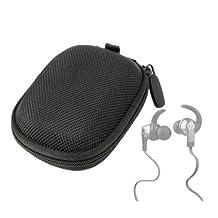 DURAGADGET Hard EVA Protective Storage Case / Bag for Earphones in Black for Monster: iSport Victory / iSport Strive / iSport Intensity