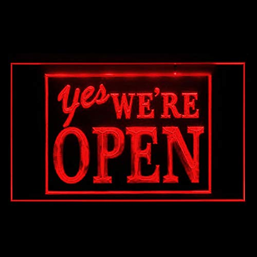 - 120038 YES We're Open Welcome Yoga Brew Pub Shop Display LED Light Sign