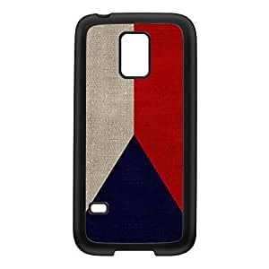 Canvas Flag of Czech Republic - Flag of Czechoslovakia Black Silicon Rubber Case for Galaxy S5 Mini by UltraFlags + FREE Crystal Clear Screen Protector