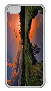 Customized iphone 5C PC Transparent Case - Sunset Summer Personalized Cover