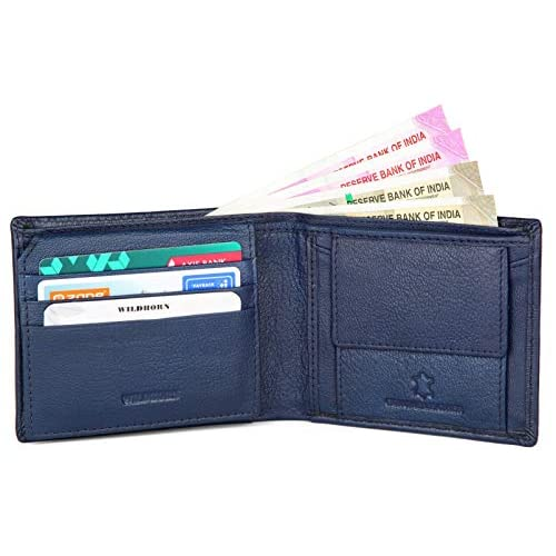 WildHorn® RFID Protected Genuine High Quality Leather Wallet,Keychain & Pen Combo for Men 4