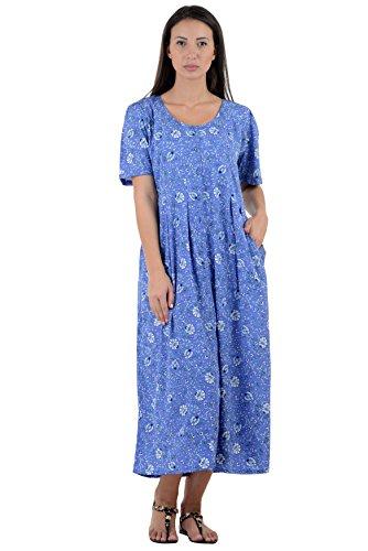 Viscose Manches Imprimé Lane Coton Robe Courte D48-ptd.