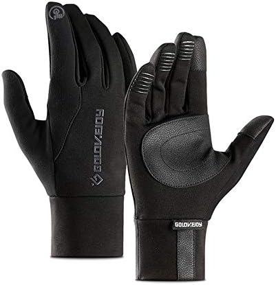 冬用サイクリンググローブ、防水タッチスクリーングローブ、滑り止め付き防風ウォームグローブ、乗馬、運転、ランニング、釣り用(M/L/XL)