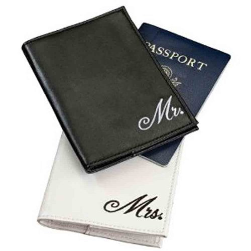 Pair of Mr. and Mrs. Passport Covers, Bags Central