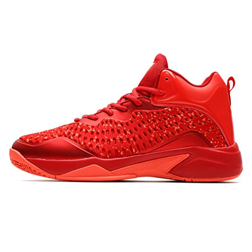Chaussure 39 Homme Mode Basketball Outdoor Confortable 45 Chaussure Rouge Sneaker de Multisport de LFEU Basket Antichoc 40OwARxaw