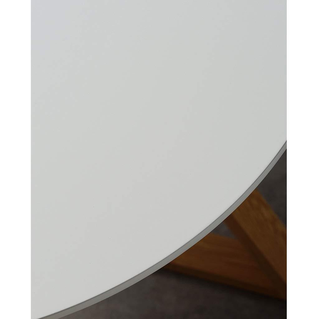 Color : Amarillo, tama/ño : 50cm HLZZK Mesas de anidamiento for Sala de Estar con Base X Ocio Mesitas de Noche de Madera Mesa Sof/á Decorativa Mesa de Centro Redonda Corta Mesa Auxiliar de Madera