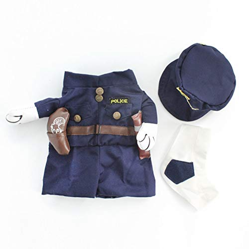 PG-One Dog Cat Costumes Funny Nurse Change Costume for Dogs Cats Pet Puppy Clothing Supplies S M L XL,Navy Blue,S]()