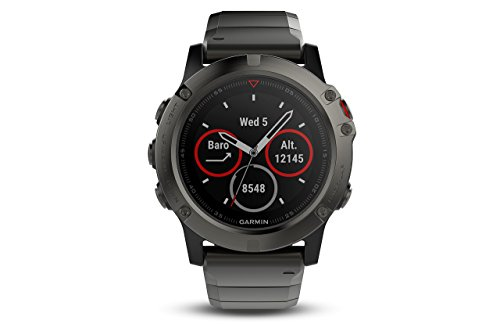 Garmin Fenix 5X Sapphire - Slate Gray with Metal Band (Certified Refurbished)