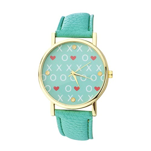 lux-accessories-mint-and-gold-tone-xo-love-watch-face-and-mint-watch-band-watch
