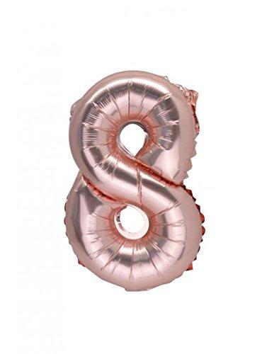 Artifete 1 balón rosa Gold - Número 8: Amazon.es: Hogar
