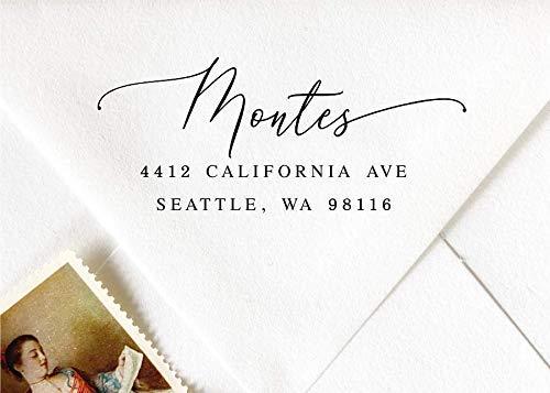 Self-Inking Address Stamp, Pre-Inked Custom Stamp, Wedding Invitation Stamp, Modern Calligraphy Save the Date Stamp