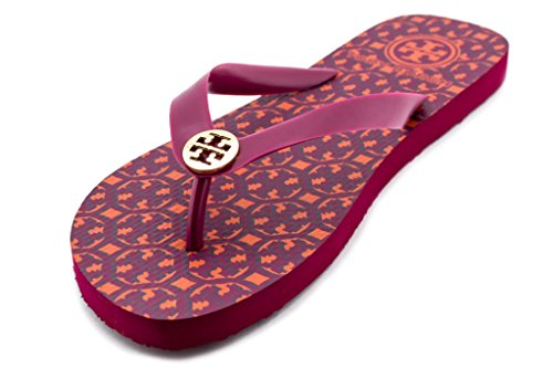 Tory Burch Lattice T Fuschia Flip Flop Flat Sandal Pink - - Tory Burch T
