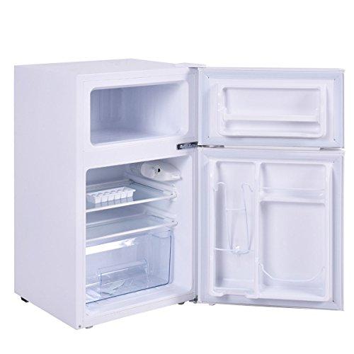 Costway 2-Door Apartment Size Refrigerator 3.2 cu ft. Unit ...