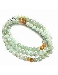 "Natural Jadeite Jade Necklace Beads 3.5mm 149 pcs 18"" Strands Light Green Color"