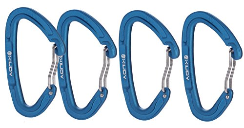 Zowaysoon 10KN Quickdraw Carabiner D-ring Locking Keychain for Hammock Camping Ourdoor 4 Pack (Neutrino Rack Pack compare prices)