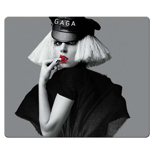 30x25cm 12x10inch game Mouse Mat cloth rubber easy movement Excellent for All Mouse Types Lady - Mouse Mickey Lady Gaga