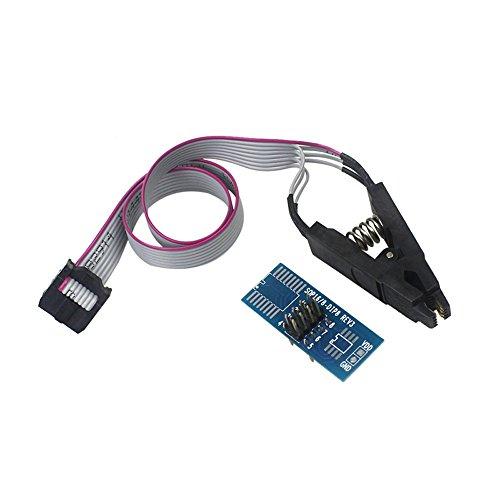 Chip Bios Flash - Ximimark 1 Set SOIC8 SOP8 Flash Chip IC Test Clips Socket Adpter BIOS/24/25/93/95 Programmer