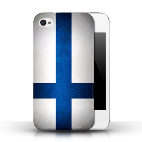 Etui / Coque pour Apple iPhone 4/4S / Finlande/finlandais conception / Collection de Drapeau