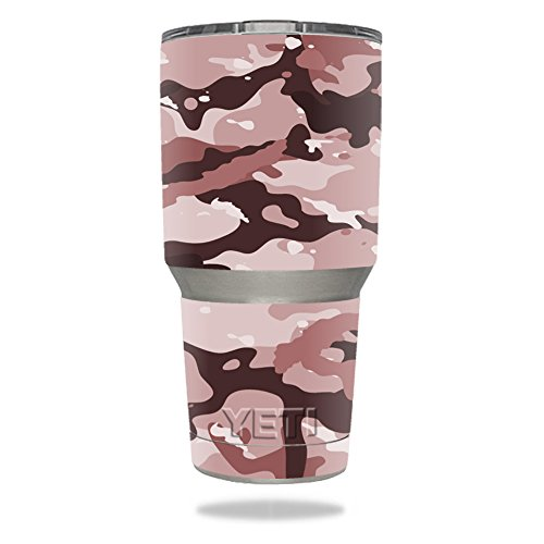 MightySkins Protective Vinyl Skin Decal for YETI Rambler Colster wrap cover sticker skins Brown Camo
