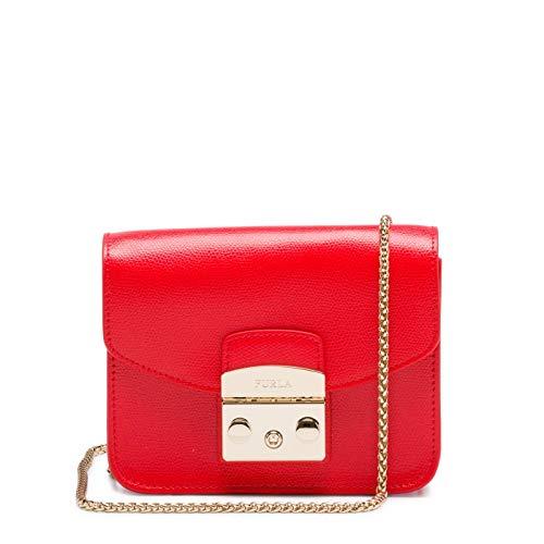Furla Women's Metropolis Mini Crossbody Bag, Kiss, Red, One Size