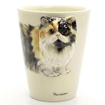 Taza de gato persa 00006 cerámica Taza 3d hecha a mano gatos. Regalos Original hecho a mano taza de café Sculpt y pintura por Cat Lover - madamepomm ...