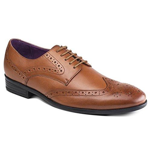 Azor Shoes Herren Schnürhalbschuhe Braun hautfarben Hautfarben