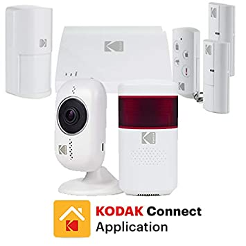 KODAK PROTECCIÓN+ Kit de Alarma de Seguridad con Sirena y 2x Cámaras de Vigilancia Full HD 1080P - Kit de Alarma Hogar con Batería Integrada y 5 ...