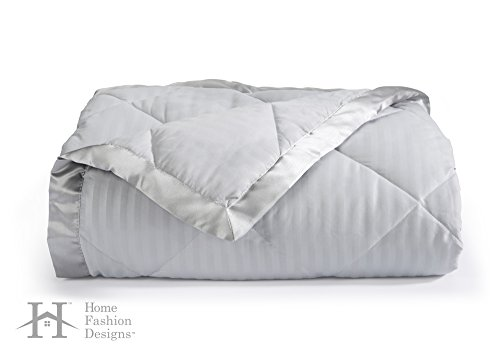 Quilted Bedding Collection (Home Fashion Designs Romana Collection Luxury Goose Down Alternative Quilted Blanket Brand (King, High Rise Grey))