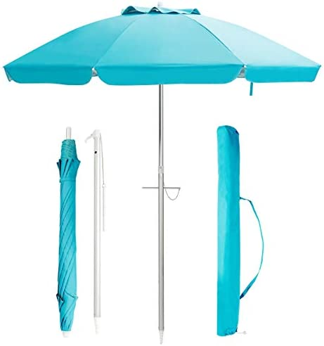 Tangkula 6.5ft Outdoor Beach Umbrella