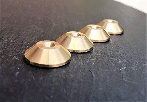 Lot de 4 Laiton Haut-Parleur C/ône Contre-Pointes 20mm DIA