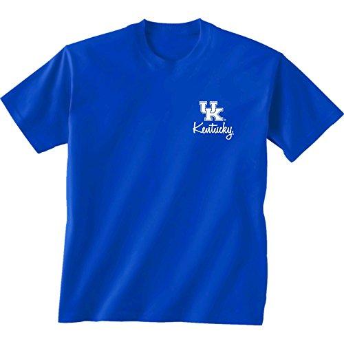 Wildcats New Kentucky Blue (New World Graphics NCAA Kentucky Wildcats Herringbone Short Sleeve Shirt, XX-Large, Royal)