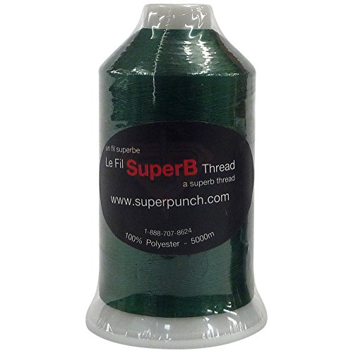 SuperB Polyester Embroidery Thread 40wt 5000m. Forest Green 695 (Forest Green Thread)