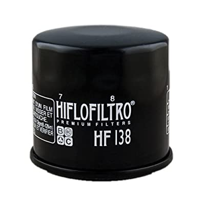 Hiflofiltro HF138 Black Premium Oil Filter: Automotive